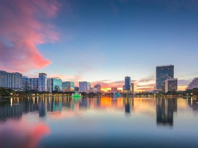 Orlando-Panorama, Lake Eola Park