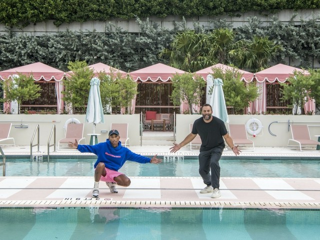 Pharrell Williams und David Grutman, Goodtime Hotel, Miami Beach