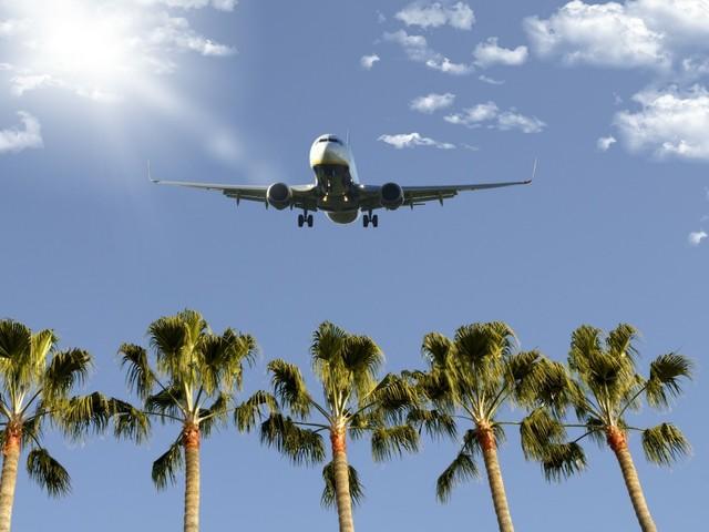 Flugzeug über Florida
