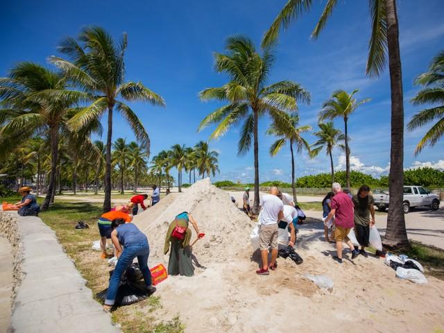 Hurrikanvorbereitung in Miami Beach 2017