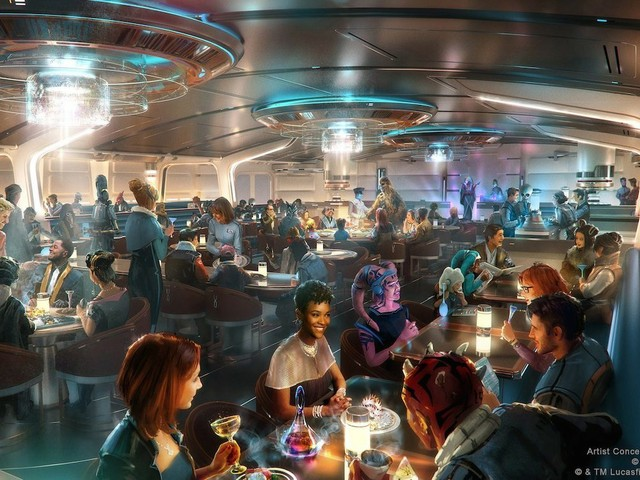 Galactic Starcruiser: Crown of Corellia Dining Room