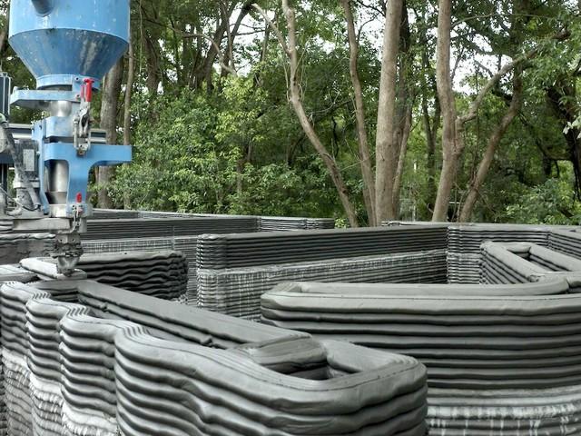 Grundmauern des Hauses aus dem 3D-Drucker